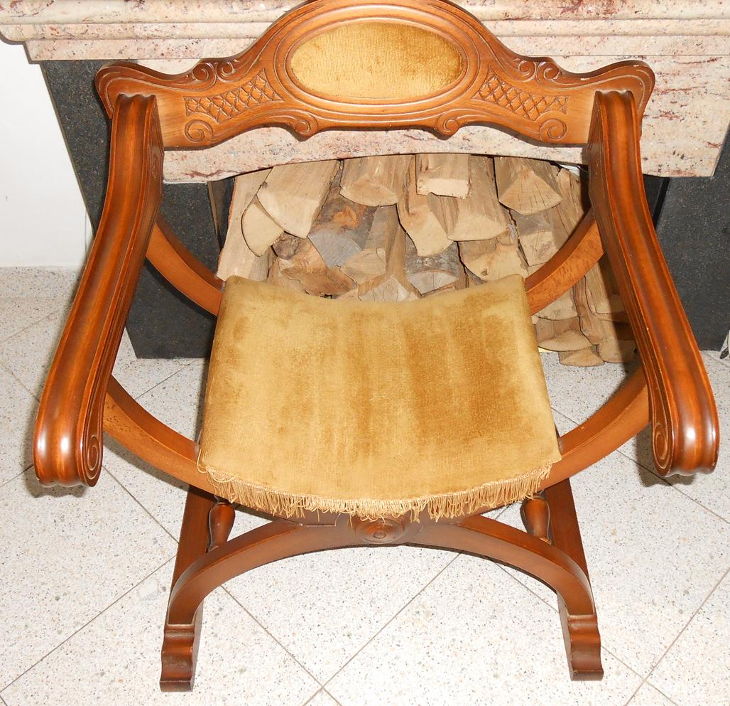 Vendo sedia poltrona dantesca savonarola rinascimentale