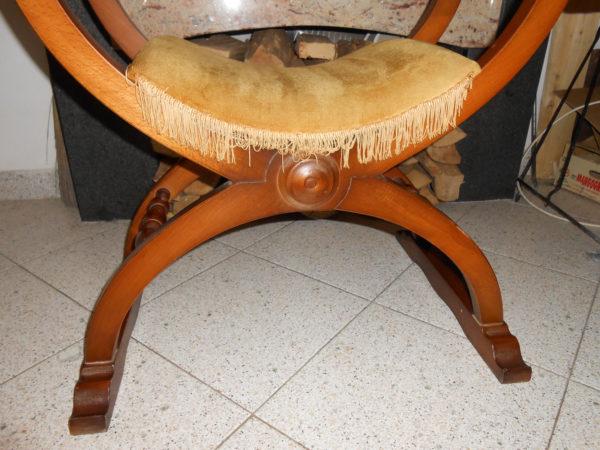 Vendo sedia dantesca savonarola rinascimentale